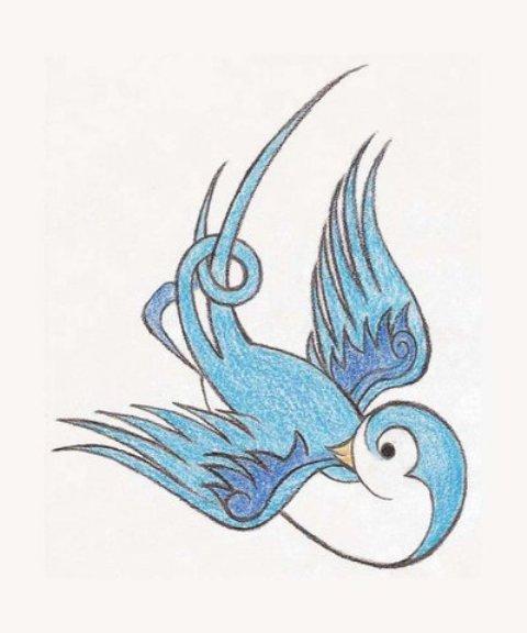 tattoo blue tribal bird tribal tattoo tribal blue tattoo edy blue by tattoo bird design bird