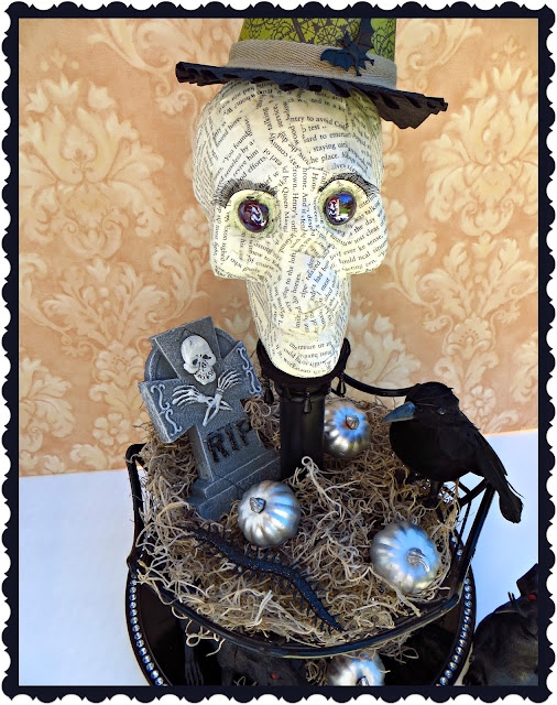 Halloween Decorations, skull, spooky decor, DIY Halloween Decorations