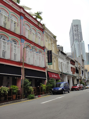 Shophouses at Ann Siang Road in Singapore