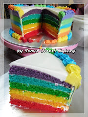 Rainbow Cakes wit Italian Buttercream