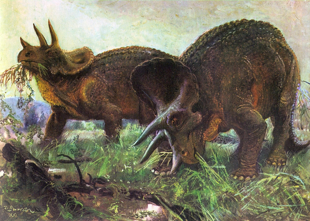 Love in the Time of Chasmosaurs: Vintage Dinosaur Art: Life before ...