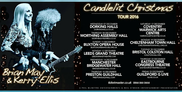 Brian May y Kerry Ellis The Candlelit Christmas Concert Preventa 13/07 www.ticketmaster.co.uk