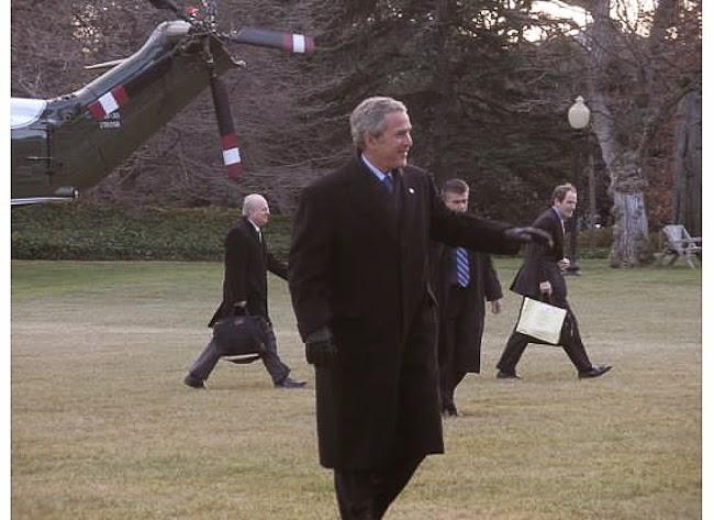 President George W. Bush, White House, Marine One