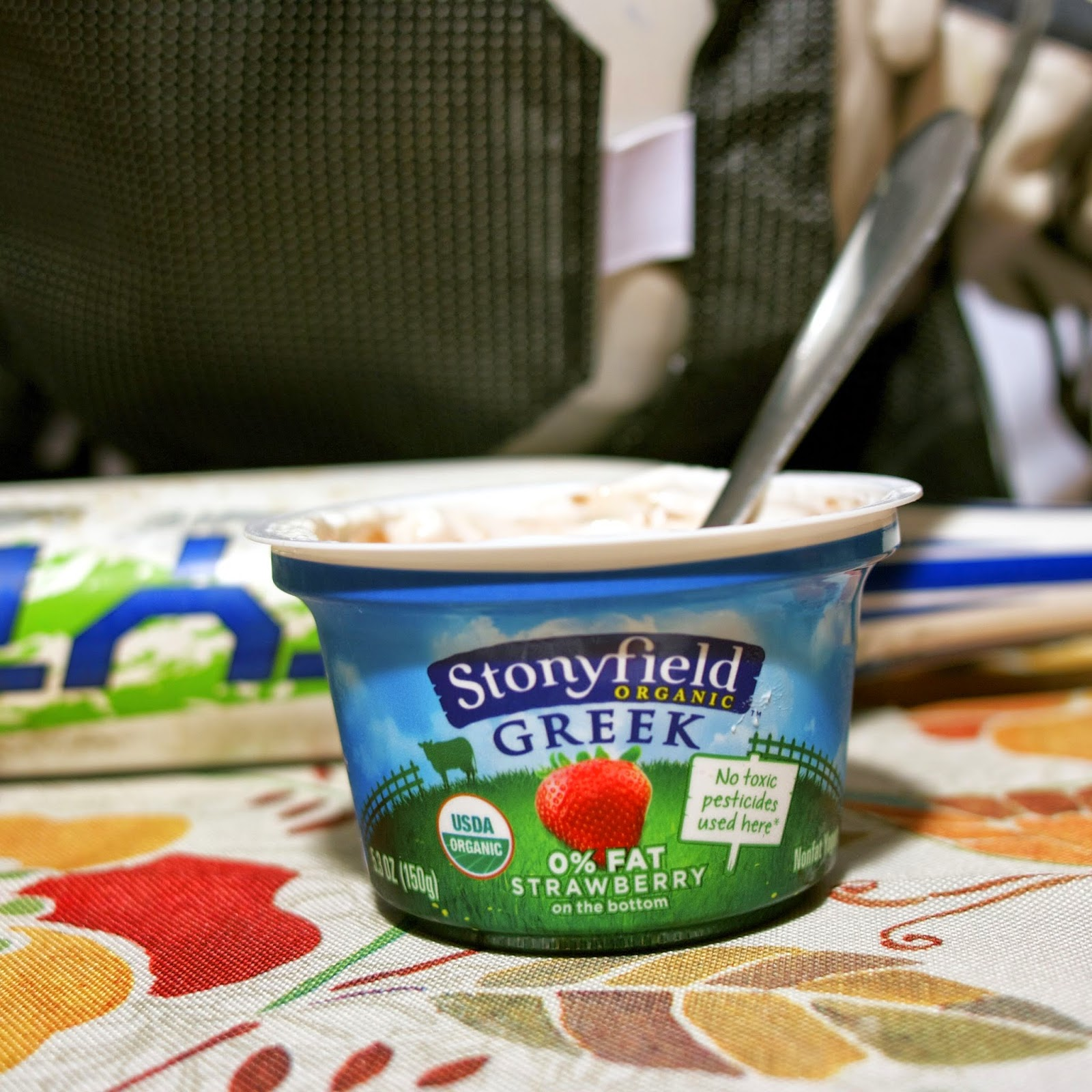 stonyfield greek yogurt: as a snack: simplelivingeating.com