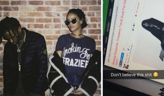 """Travis Scott responde a las acusaciones sobre ser el responsable de la demora de """"ANTI"""", nuevo álbum de Rihanna."""