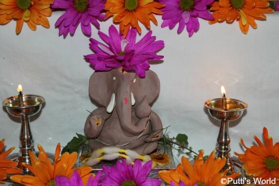 DIY Ganesha clay idol