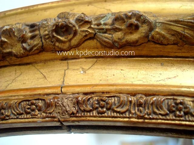 Espejos con estilo. Clásicos. Vintage  -dorados - S.XIX. Para coleccion. Estilo isabelino