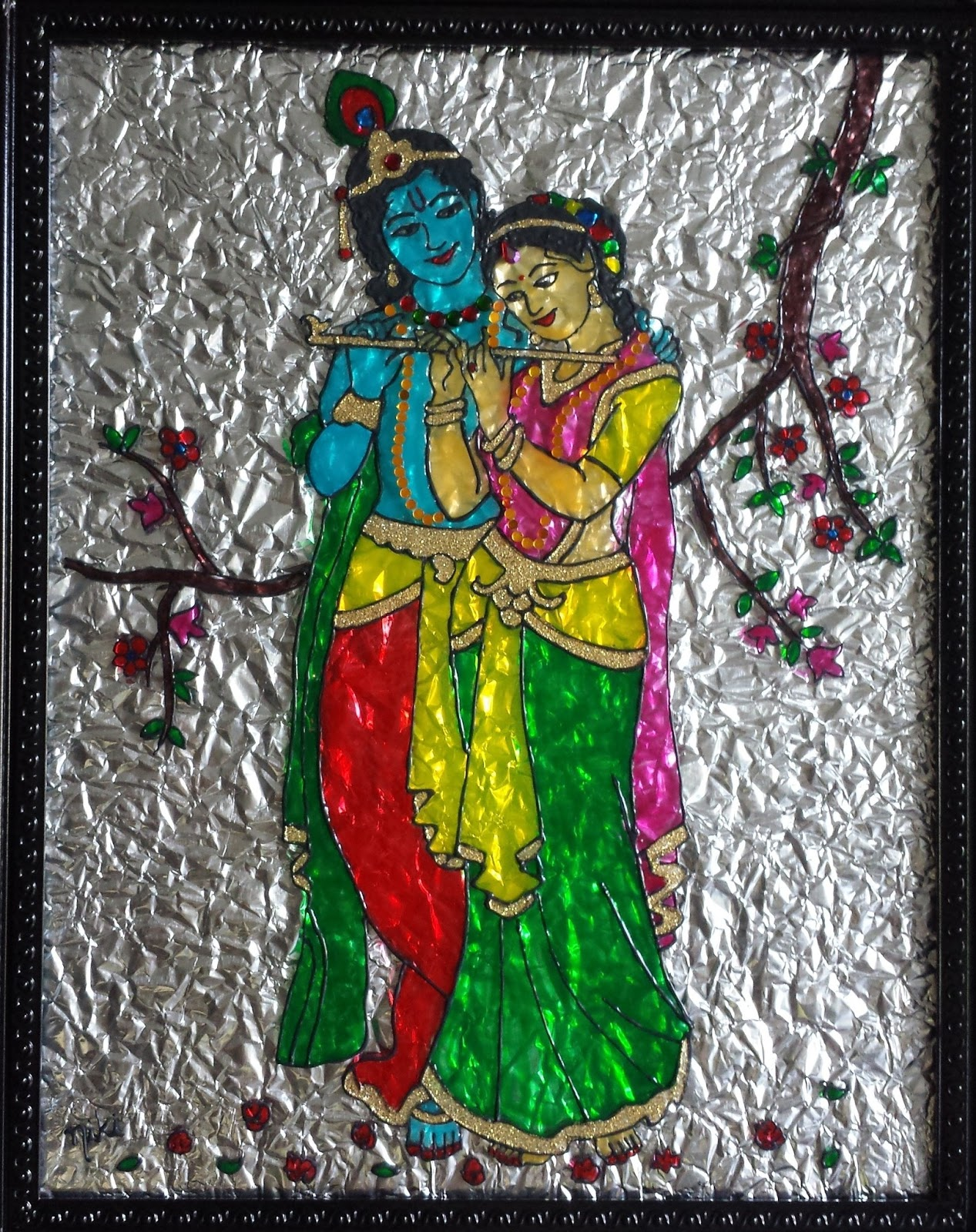 Glass paintings for Glass painting designs