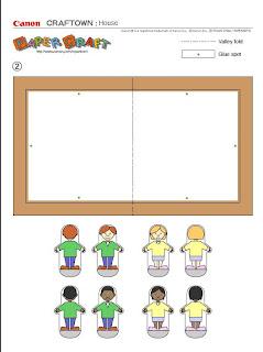 personajes para la casita de carton