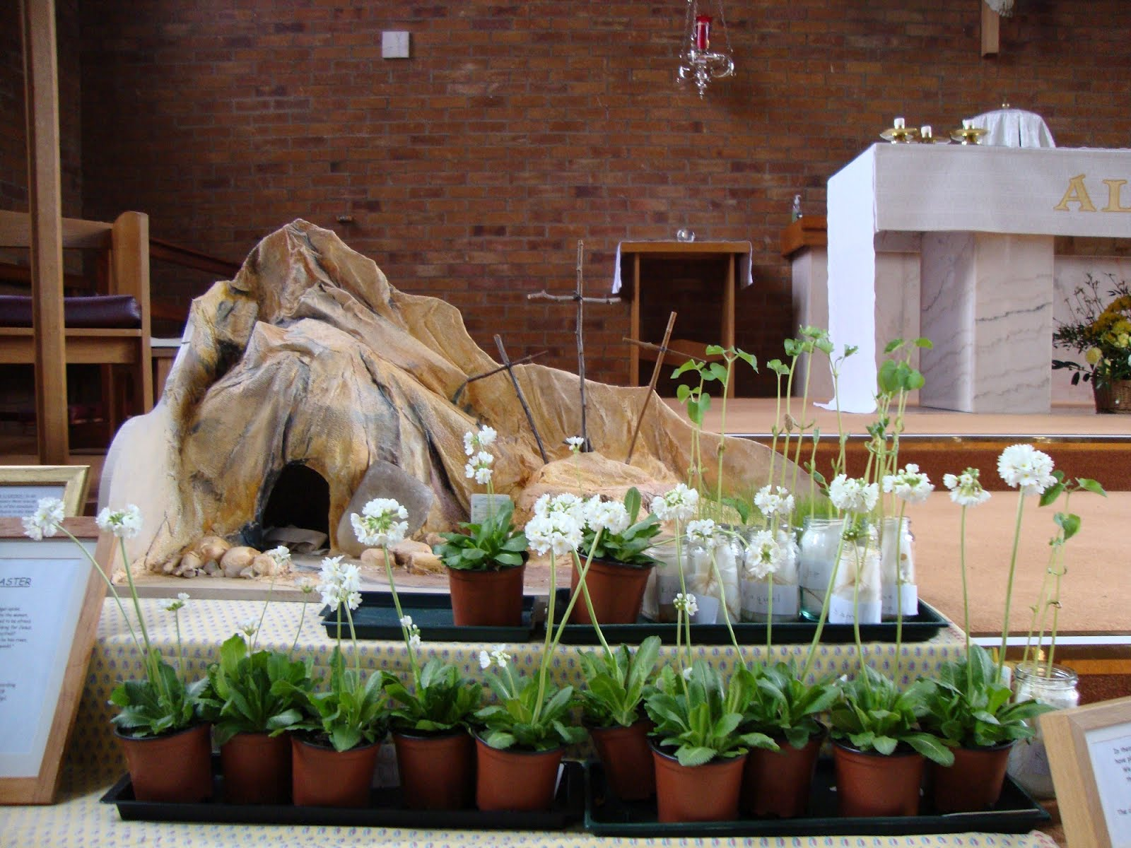 Catholic church of the immaculate conception oadby for Easter garden designs