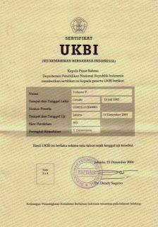 UKBI Uji kemahiran Berbahasa Indonesia