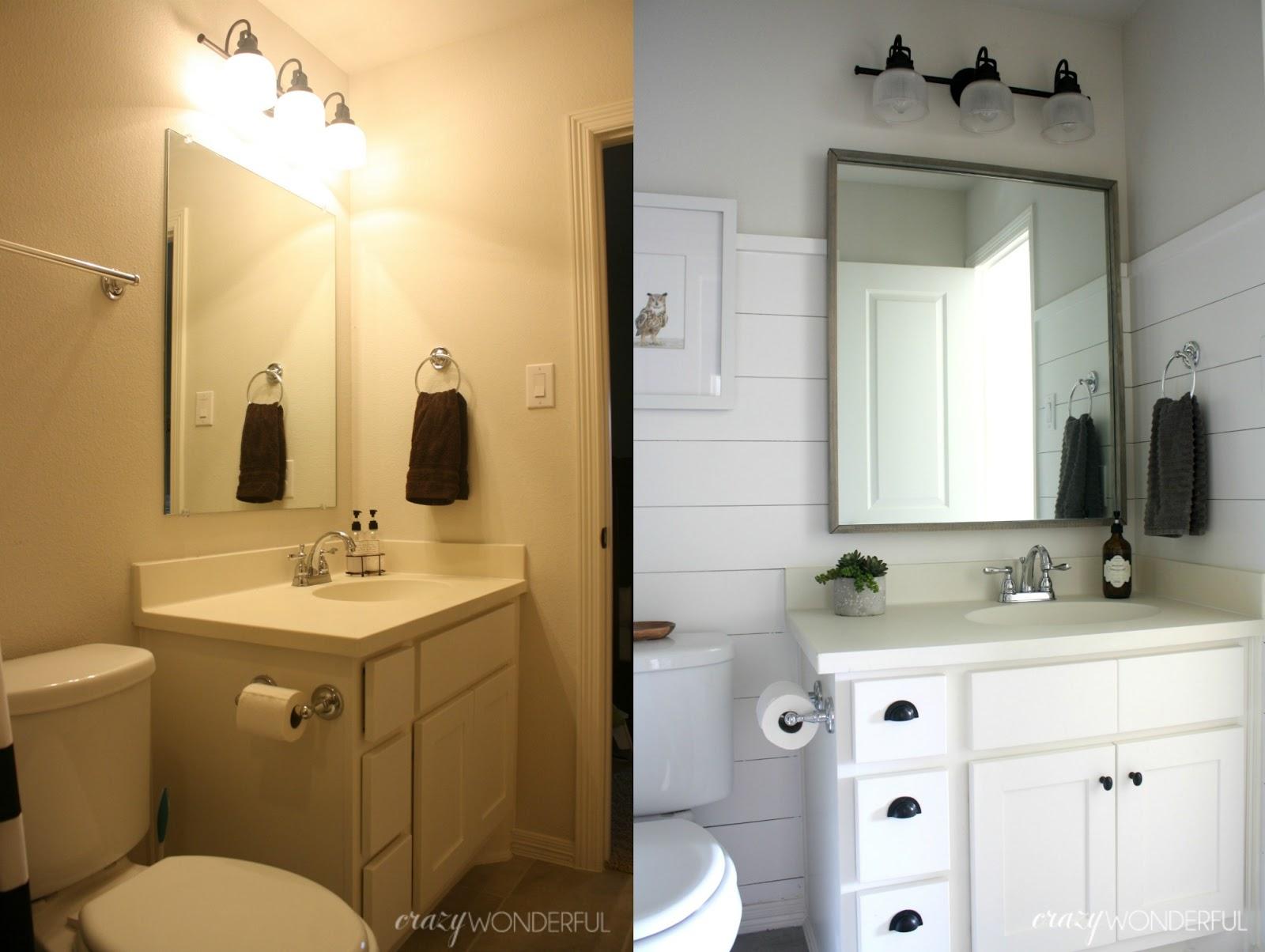 Crazy wonderful shiplap boy s bathroom reveal