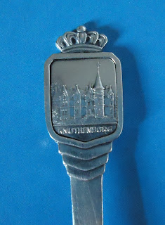 ANTIQUE KNUTHENBORG SOLID SILVER SPOON D.G.S DENMARK