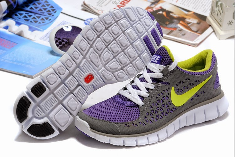 2013 Nike Free Run Womens Running Shoes Grey Moon