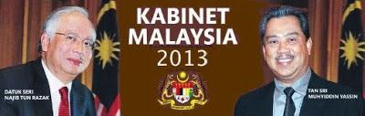 Senarai Rasmi Barisan Menteri Kabinet Baru Malaysia 2013, Senarai Menteri-Menteri Di Malaysia Penggal Ke 13 Selepas PRU13.