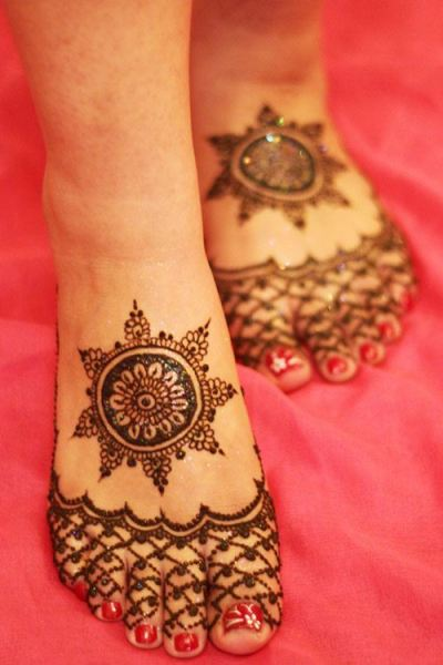 Mehndi Foot Designs Latest : Eid mehandi design for feet