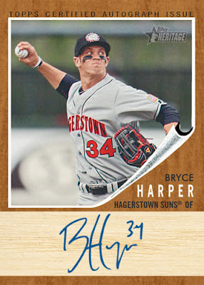 2011 Topps Heritage Minor League Bryce Harper