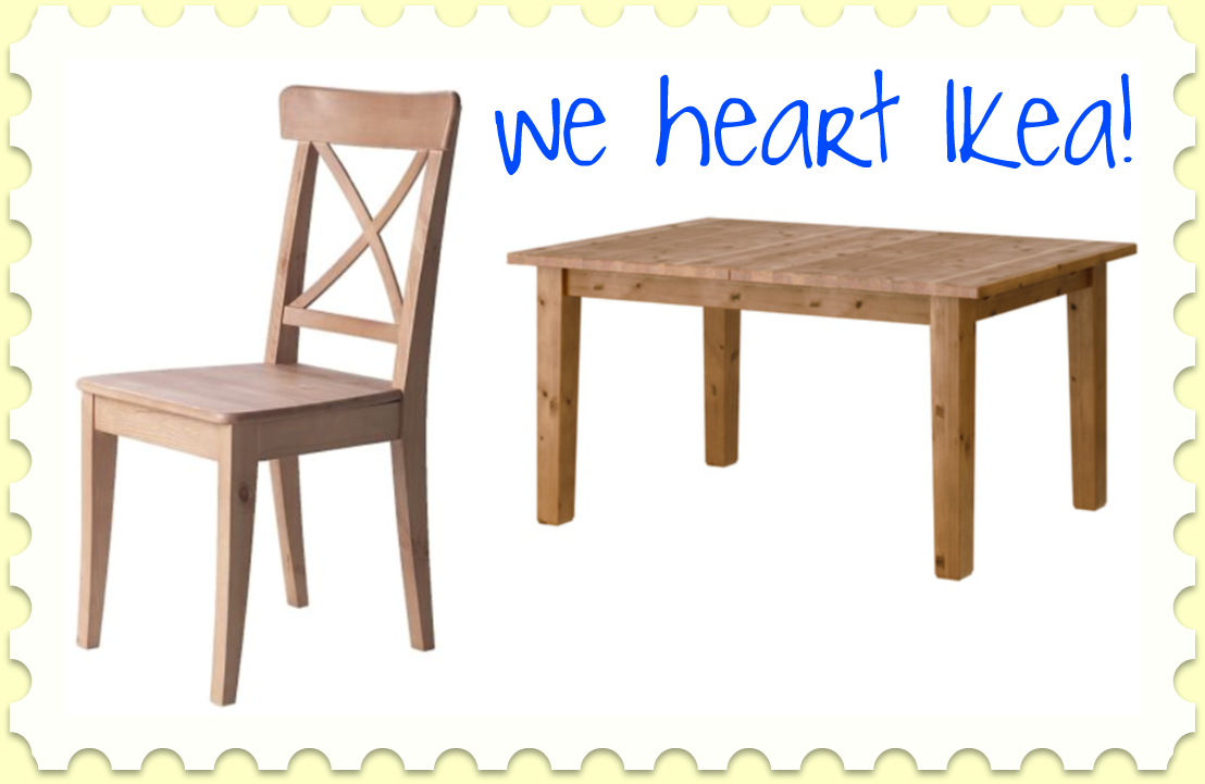 Obsessed with wooden kitchen tables the lovely sisters for Ikea stornas table
