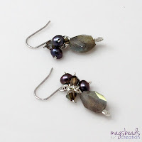Labradorite Earrings by MagsBeadsCreation