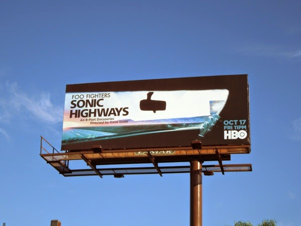 Foo Fighters Sonic Highways billboard