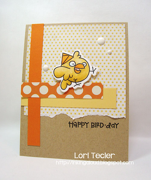 Happy Bird-day-designed by Lori Tecler-Inking Aloud-stamps and dies from Paper Smooches