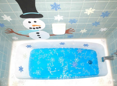 Frosty the Snowman bath