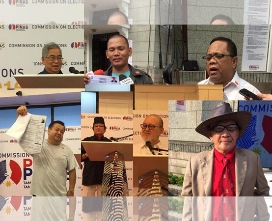 Candidates for President 2016 COC