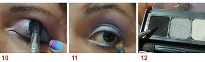maquiagem olho lilas azul rosa