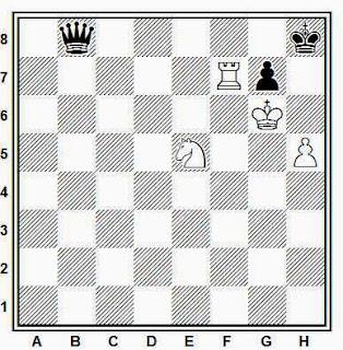 Estudio artístico de ajedrez compuesto por Kling y Horwitz (Chess Studies and End Games, 1851)