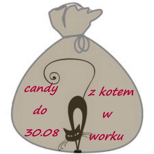 Candy z kotem w worku