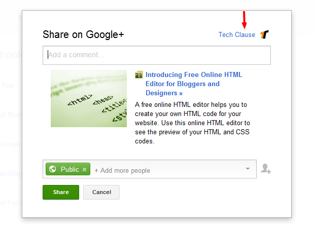 Blogger to Google plus, Google+ page, Blogger, Auto share your post on Google+