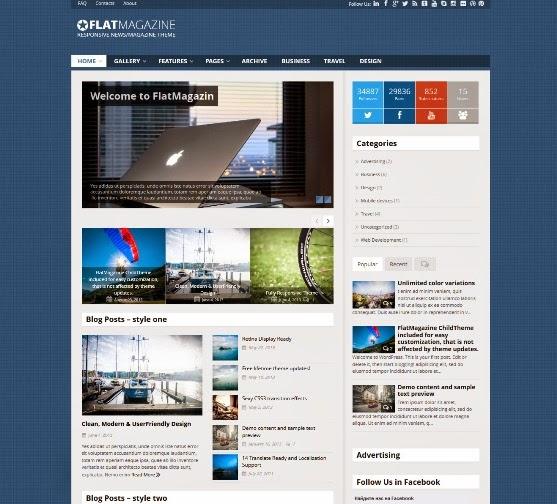 FlatMagazine Responsive News/Magazine Theme