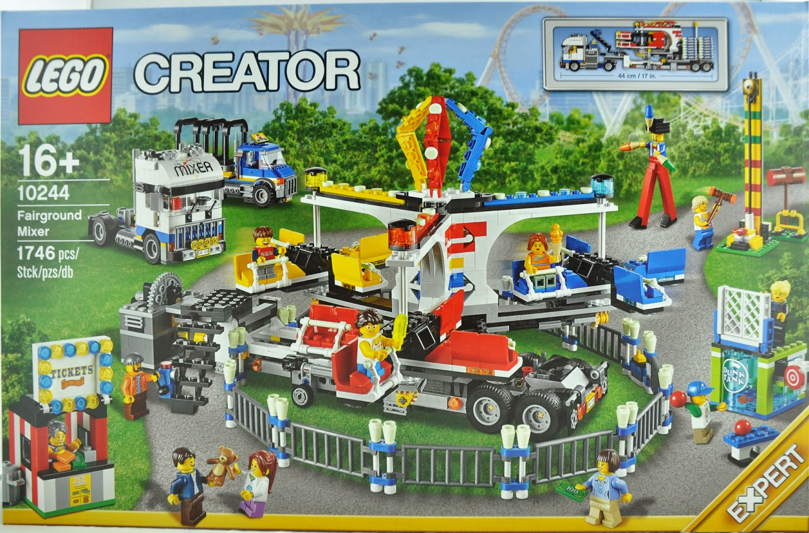 Oz Brick Nation Lego Creator 10244 Fairground Mixer Review