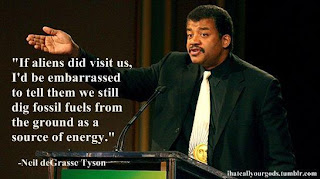 Neil deGrasse Tyson embarrassed by humanity's digging of fossil fuels