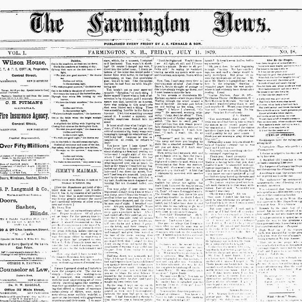Issues of the Farmington News Now Available Online