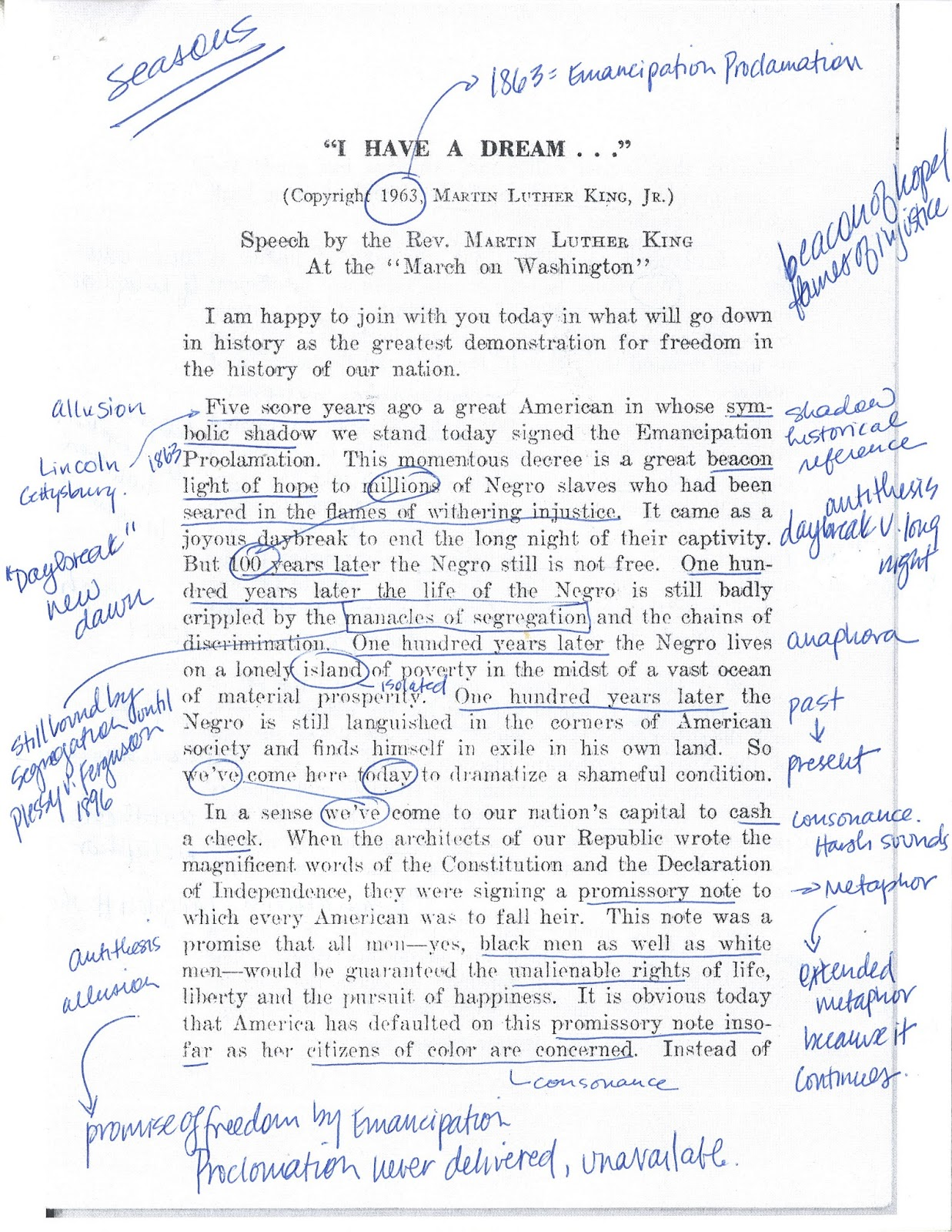 dr king essay In his speeches and essays, dr martin luther king, jr employs a variety of creative writing techniques to add imagery to his writings, to enhance his themes and the inspirational tone of his work, and, most importantly, to reach a broad audience for his ideas in his i have a dream speech, for.