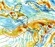 Pronóstico de vorticidad para el 2 de abril de 2013 de acuerdo al modelo GFS . vort gfs abr