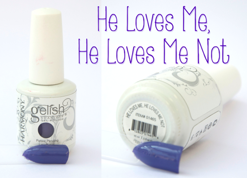Gelish He Loves Me He Loves Me Not Spring Summer Gel Nail Varnish Purple