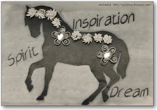 quilling quilled horse atc