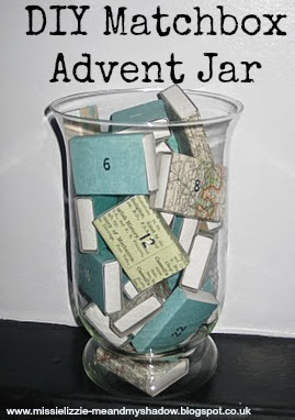 Match box Advent Jar Calendar