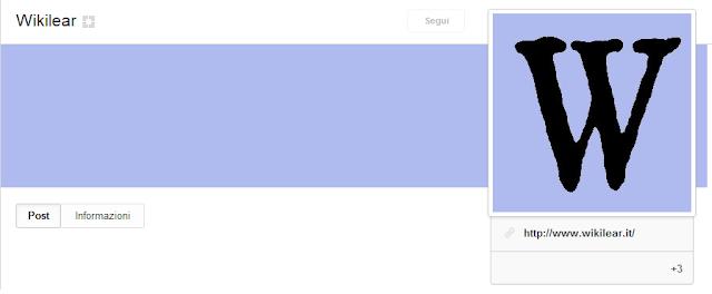 Pagina Google+ ufficiale di Wikilear
