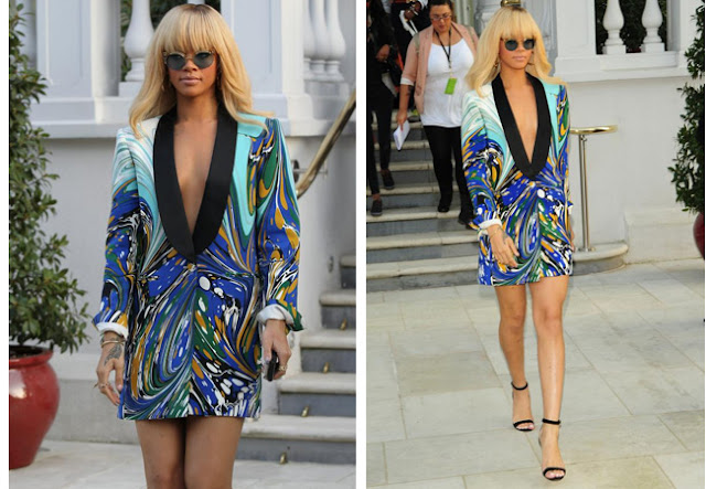 rihanna, blazer dress, stella McCartney
