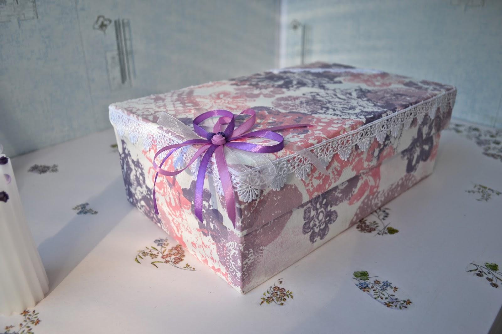 Картонная коробка своими руками декупаж 86