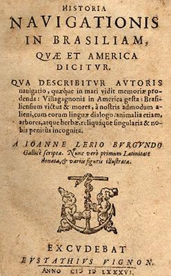 Publicação original de Jean de Léry História de uma viagem à Terra do Brasil