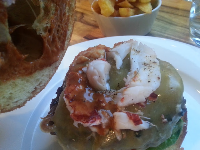 A little less lobster on the Admiral Codrington burger