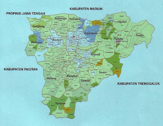 Peta Kabupaten Ponorogo