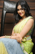 Adah sharma glam pics in saree-thumbnail-9