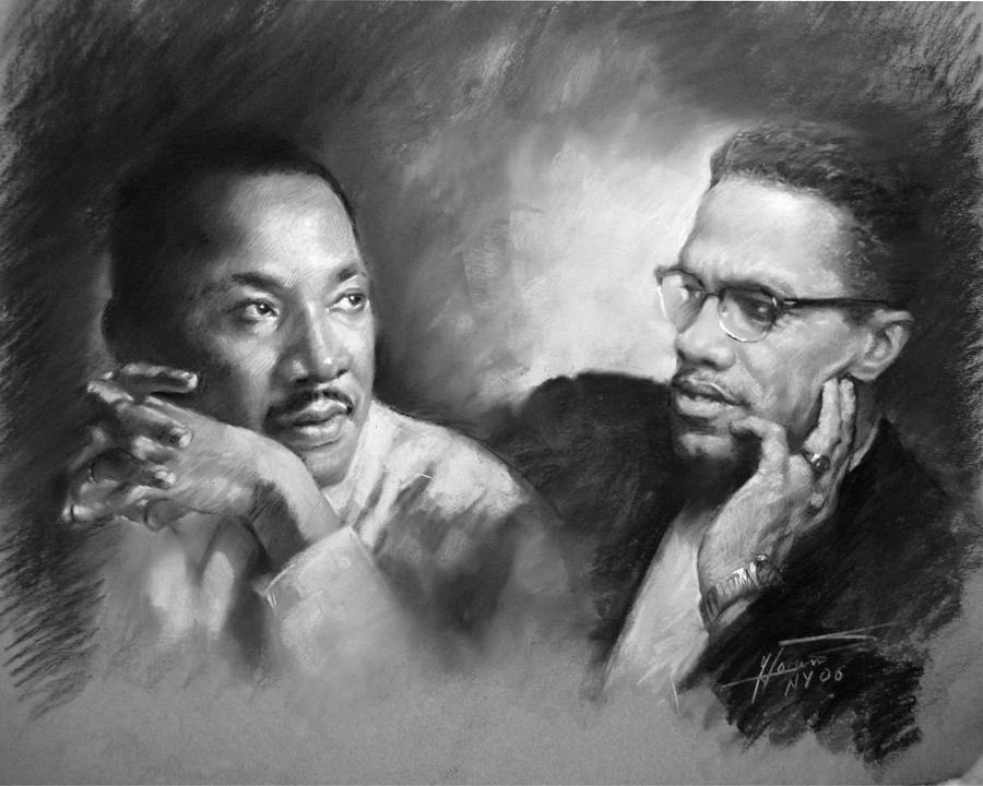 a comparison of martin luther king and malcolm x two civil rights fighters Martin luther king jr and malcolm x are face to face their elbows are  what  are these two civil rights leaders doing in the same room together  is it  possible they could have been friends despite their differences and if.