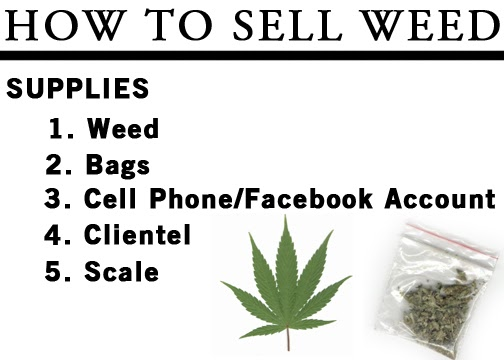 how to make profit selling weed