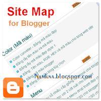 Tạo Sitemap đẹp cho blogspot